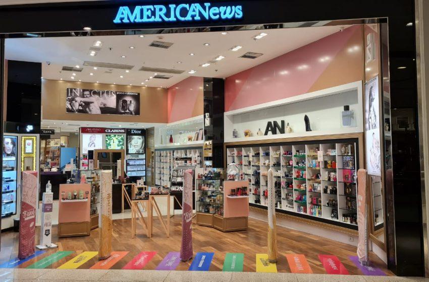 """AmericaNews Beauty lança campanha """"Bem Me Quer, Bem Me Quer"""" para Dia dos Namorados e coloca faixa de pedestres LGBTQIA+ em loja"""