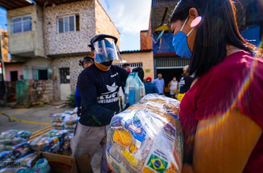 Social: CUFA distribui 1 tonelada de alimentos na Areninha da Rosalina