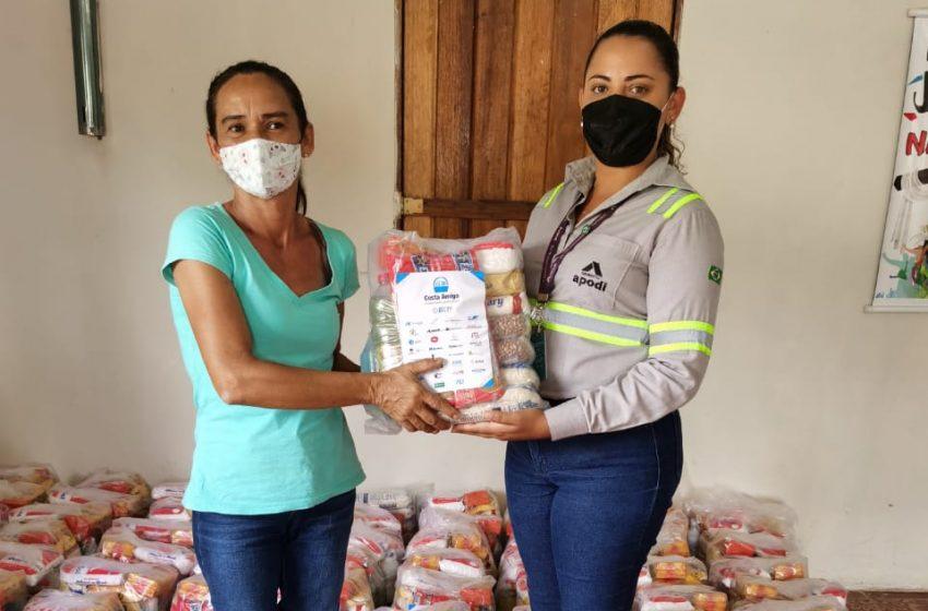 Cimento Apodi realiza doação de cestas básicas para Comunidade do Bolso, no Pecém/CE