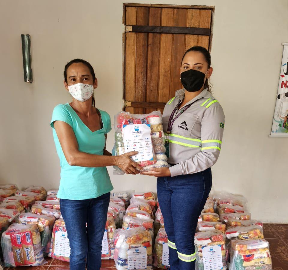 <strong>Cimento Apodi realiza doação de cestas básicas para Comunidade do Bolso, no Pecém/CE</strong><strong></strong>