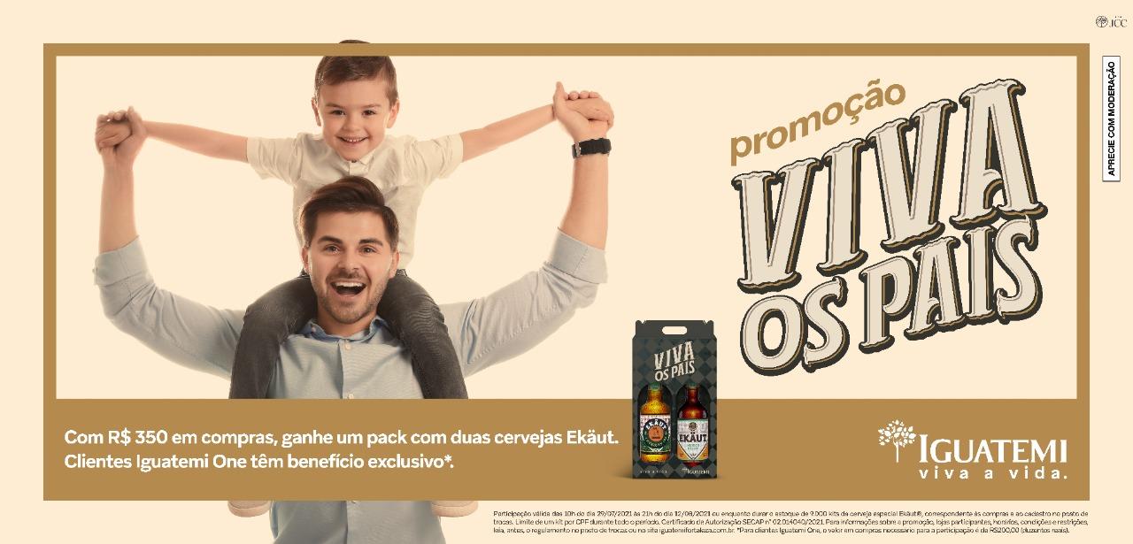 Iguatemi Fortaleza lança campanha de compre e ganhe para celebrar Dia dos Pais