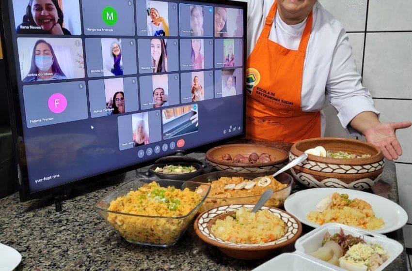 Escola de Gastronomia Social oferta 440 vagas para cursos on-line em julho