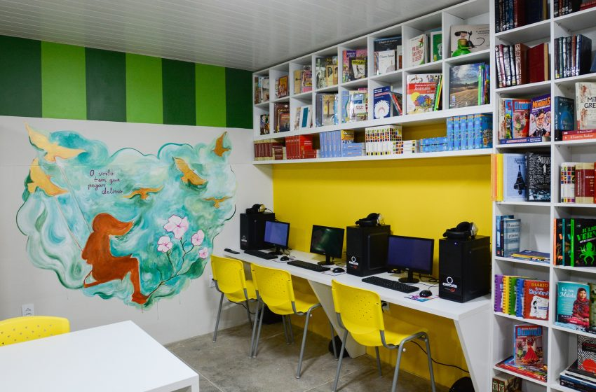 Territórios da Leitura transforma mais duas bibliotecas no interior do Ceará
