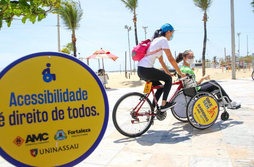 Prefeitura e Uninassau iniciam projeto de lazer e inclusão com bicicletas adaptadas em Fortaleza