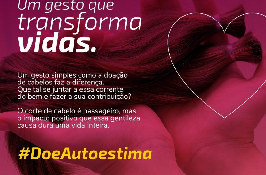 Sicredi Ceará promove campanha de doação de cabelos e lenços para mulheres que lutam contra o câncer
